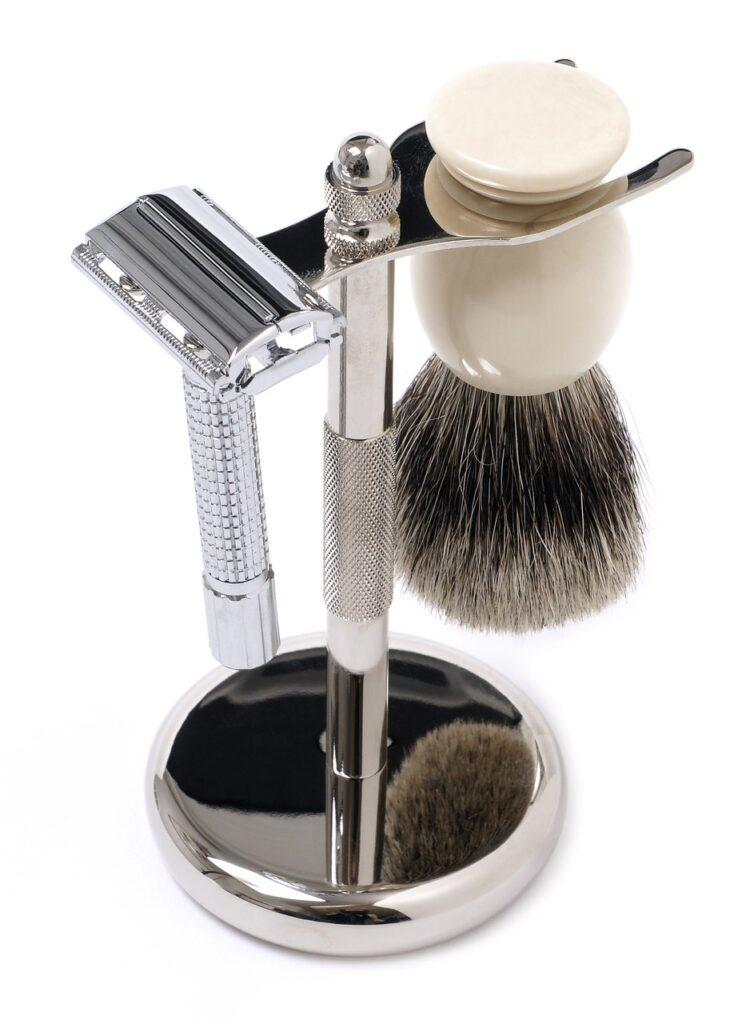 Safety Shaver and Shaving Brush Set